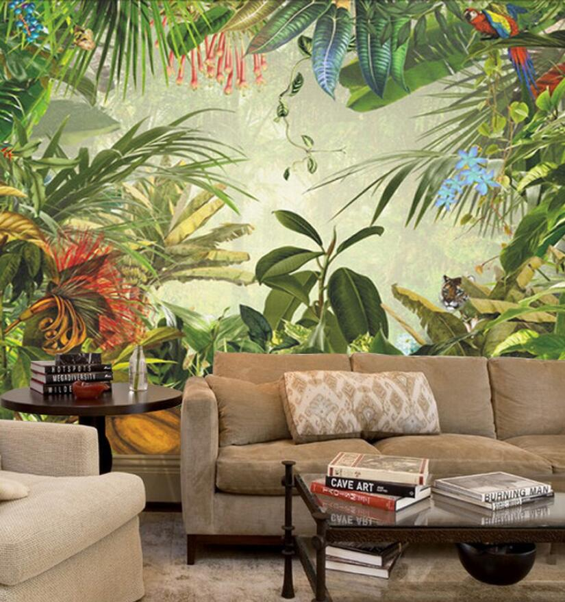 Southeast Asia leaf of japanese banana pattern wall mural for bedroom background customization wallpaper tt tf ths 02b hybrid style black ver convoy asia exclusive