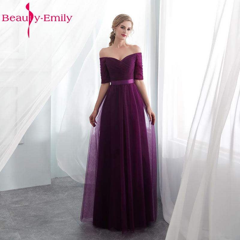 Sexy Purple   Bridesmaid     Dresses   A-line Wedding Party Prom Dressesvestido de festa longo Lace Up Party   Dresses