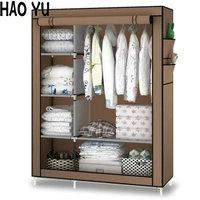 When The Quarter Wardrobe DIY Non Woven Fold Portable Storage Cabinet