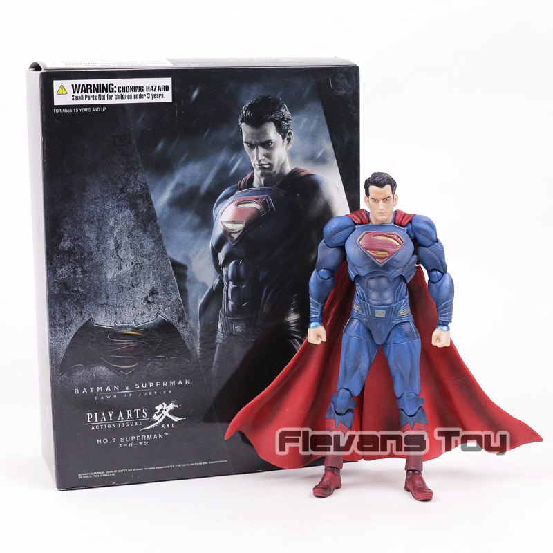 Batman V Superman Dawn of Justice NO.2 Superman PVC Action Figure Play Arts Kai Collection Movable Model Toy