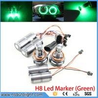 40W LED Angel Eyes H8 Marker CREE LED Chips Green for BMW E92 E63 E64 E81 E82 E87 E88 E90 E91 E93