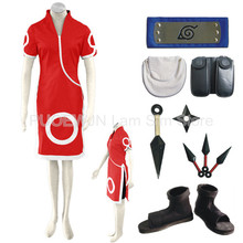 Anime font b Naruto b font Haruno Sakura font b Cosplay b font Costume Full Set