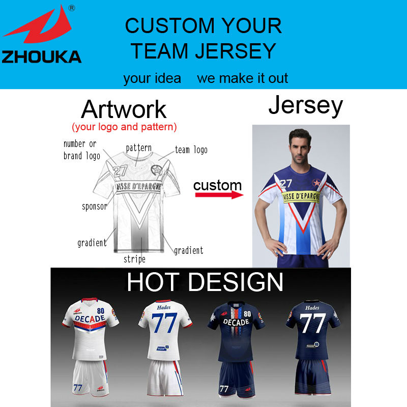 Custom your team jersey soccer