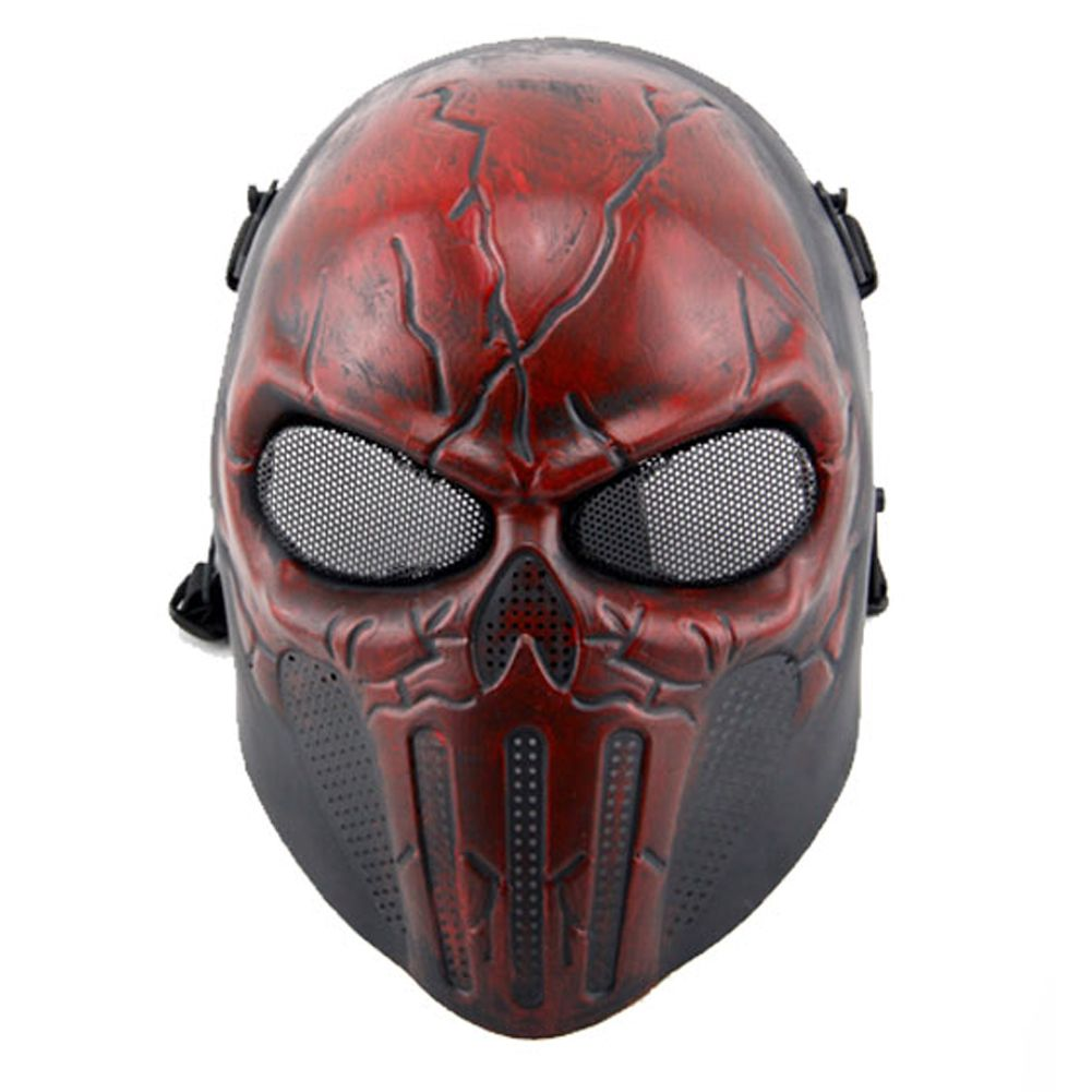 Halloween Party Mask Plastic Ear Protective Full Face Mask, terminator full face mask skull mask airsoft paintball mask masquerade halloween cosplay movie prop realistic horror mask