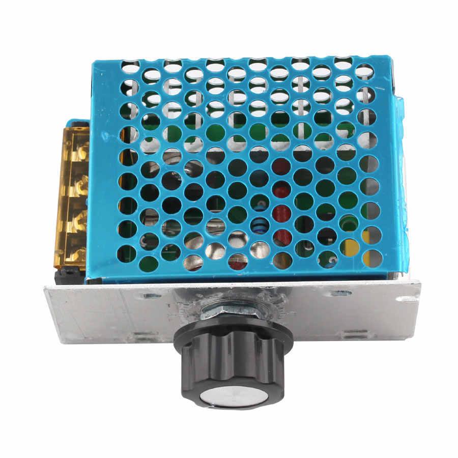 4000 Вт 220 В переменного тока SCR регулятор напряжения диммер электрический регулятор скорости двигателя Электронный регулятор напряжения диммер Термостат Регулятор