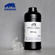 UV 405nm фотополимер для DPL/SLA/LCD принтера | Wanhao Duplicator 7 | Фотополимерная смола для D7 принтера Ванхао -1000 мл | Цвет белый | Безопасная доставка в Россию — 100% гарантия доставки