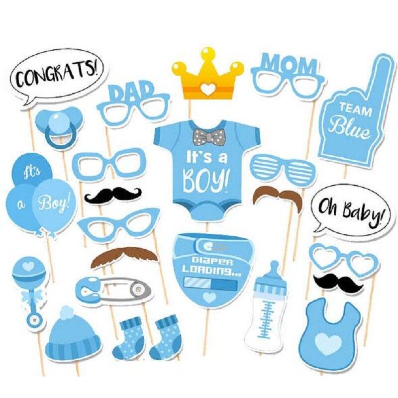 25ks Baby Photo Booth rekvizity Funny Lip Hat Knír Narozeniny Svatební Party Vánoční dekorace Foto Booth Prop
