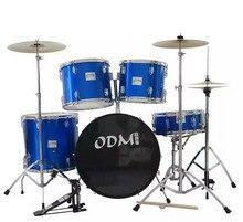2017China Western font b musical b font instruments font b drums b font 6drum3cymbalsblue
