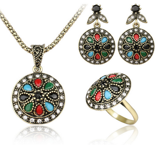 Flower jewelry sets green water drop acrylic pendants vintage flower jewelry sets green water drop acrylic pendants vintage necklace princess hooks gold earrings brincos anel jewellery sets mozeypictures Choice Image