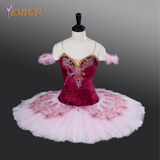 ff5ec3082 adult professional tutu maroon pink pancake competition nutcracker ballet  tutus ballet stage costumes women ballet dress