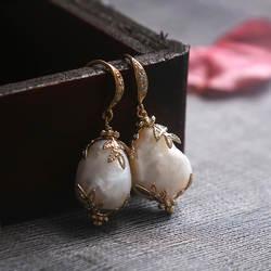 Amxiu ручной работы с натуральным жемчугом Серьги 925 пробы серебряные большие серьги женские украшения Крючки серьги-подвески с аксессуарами