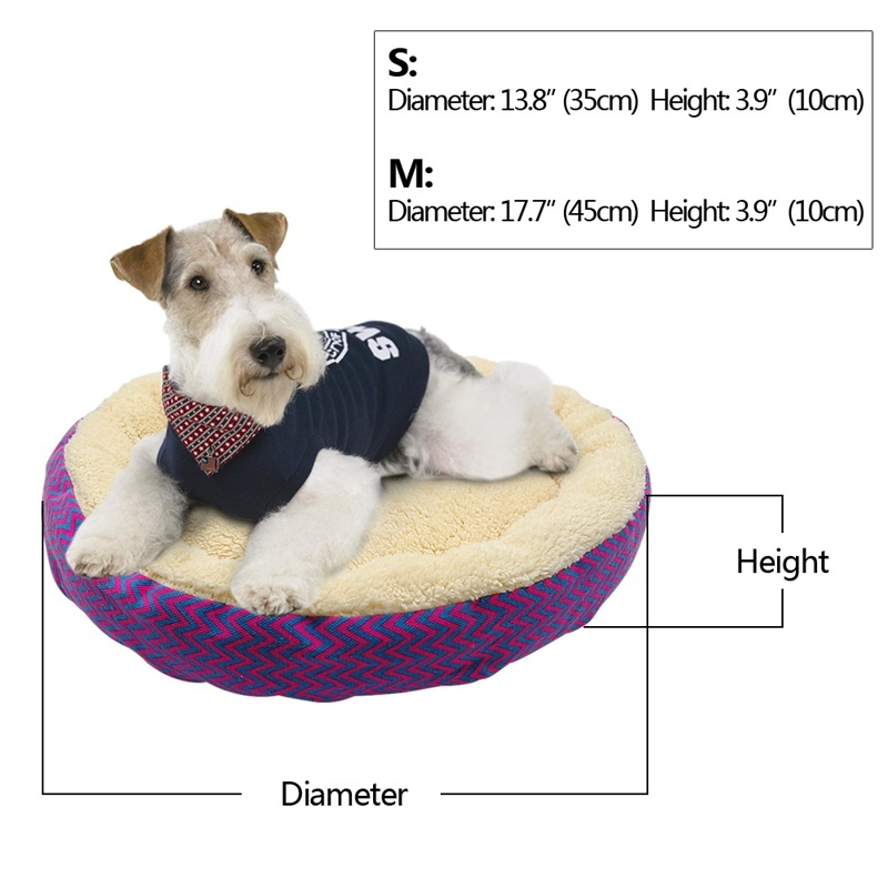 Warm Cat Bed House Round Bed Fodable Dog Sleeping Mat Pad Nest Kennel Pet Cushion Puppy Nest Shell Hiding Burger Bun For Winter #2