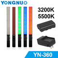 Yongnuo YN360 Handheld LED light Video Fill Light 3200k / 5500k RGB Colorful 39.5CM Stick or YONGNUO yn360+F550 battery +charger