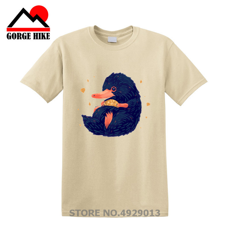 Niffler Movie Creative Design Beast's Treasure   T  -  Shirt   Men Movie Fantastic Beasts and Where To Find Them   T     Shirt   Cool Top Tees