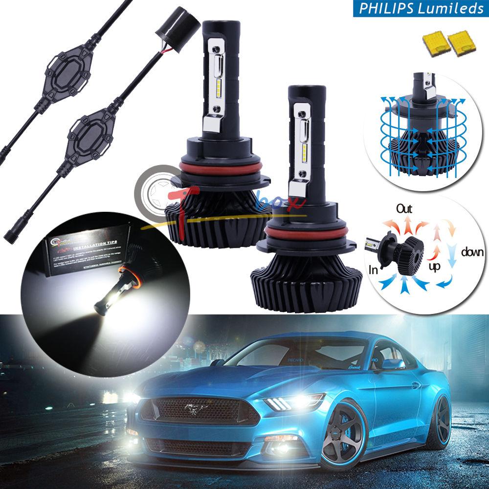 ФОТО High Power 6000K LED Headlight Bulbs - 9004 HB1 Hi/Lo, Powered By Philips Luxeon