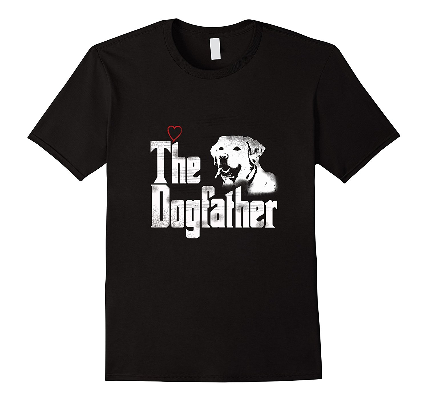 Mens The Dogfather Shirt  Labrador Dad T Shirt  Fathers Day Gift Summer T-Shirt Brand Fitness Body Building Top Tee