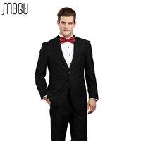 MOGU Two Piece Pure Color Men Suits Slim Fit 2017 New Fashion High Quality Solid Formal Suits For Men Asian Size 4XL Men's Suits