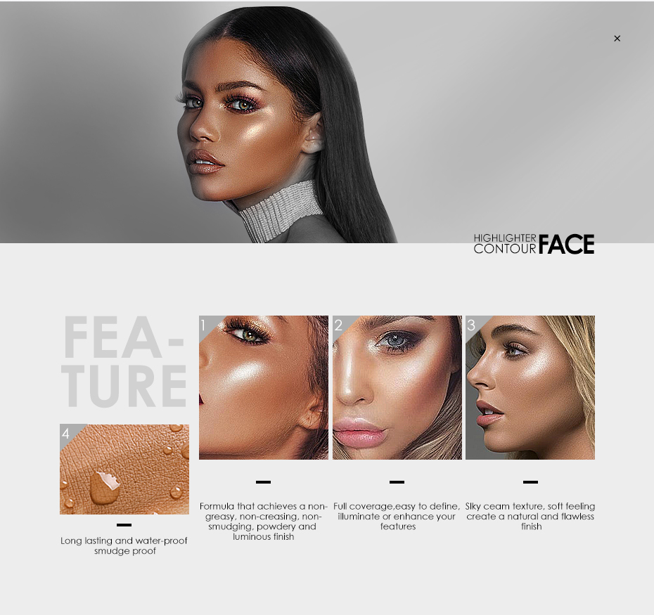 Focallure Waterproof & Oil Control Glossy Face Contour