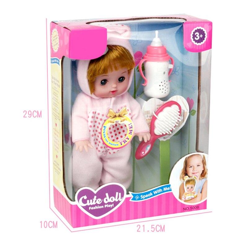 Новый электрический звук произнося кукла петь песни рожок кукла образование забавные игрушки