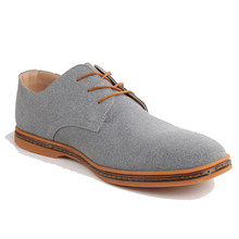 Men shoes Oxford Genuine Leather Casual Shoes Dress Shoes Male Flats Gentleman Shoes Luxury Lace-Up Solid zapatos hombre(China)