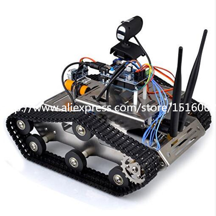 Wireless wifi robot car kit for arduino hd camera ds