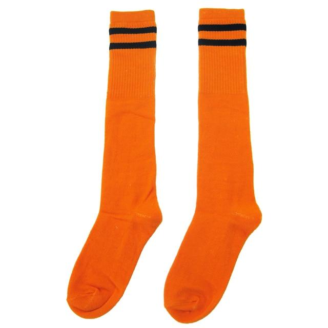 242baf80bde66 Chaussettes longues de football pour enfants chaussettes hautes de Hockey  sur Baseball (orange)