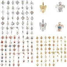 Argent Rose or perle Cage bijoux médaillon pendentif résultats Cage huile essentielle diffuseur médaillon pour perle dhuître