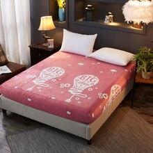 8049d369dd Rosa estilo Princesa lençol colcha folha de cama macia de Boa qualidade  confortável Com Elástico Originalidade