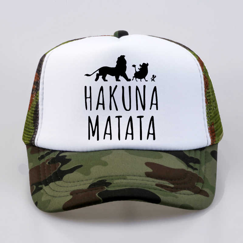 a3417800557 ... Trucker Caps Lion King Funny Hat Cap Men Pumba Hakuna Matata Baseball  Cap Cool Summer Mesh ...