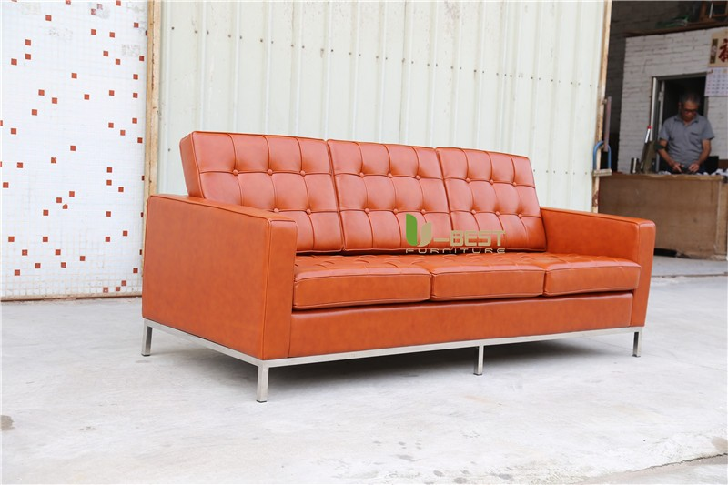U-BEST FLORENCE KNOLL SOFA 3 SEATER BROWN (1)
