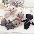 Горячие продажа 11 см Прекрасный Плюшевый Мишка Брелок Маленькие Плюшевые медведь Для Детей Дети Подарок Симпатичные Брелок Сумка Шарм брелок f90