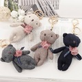 Hot sale 11cm Lovely Plush Teddy Bear Key Chain Small Plush Bear For Kids Children Gift Cute Keychain Bag Charm Key ring f90