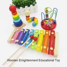 лучшая цена MAMACLEVA Children Wooden Toys Childhood Colorful Learning Toy Enlightenment Early Educational Mini Around Beads Building Blocks