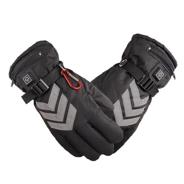 США Plug зимние перчатки с подогревом USB Перезаряжаемые Батарея питание для мотоцикла Охота руки теплые лыжные Велоспорт Электрический перчатки