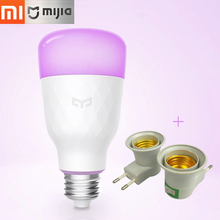 Original Xiaomi Mijia Yeelight Inteligente Lâmpada LED Colorido 800 lumens 10 W E27 Limão Lâmpada Inteligente Para Mi Casa App (Versão de atualização)