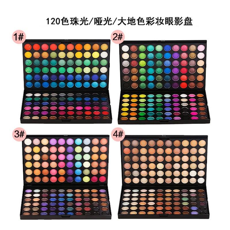 Global fashion 120 color eye shadow makeup tray Warm earth smoke Makeup professional