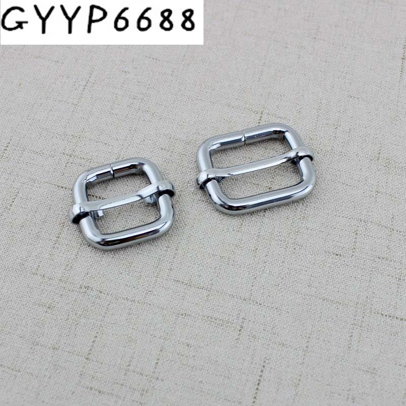 10pcs 50pcs High Quality Metal Slides Tri-glides  Roller Pin Buckles Strap Slider Adjuster Harness DIY Belt Ribbon Roll Buckles