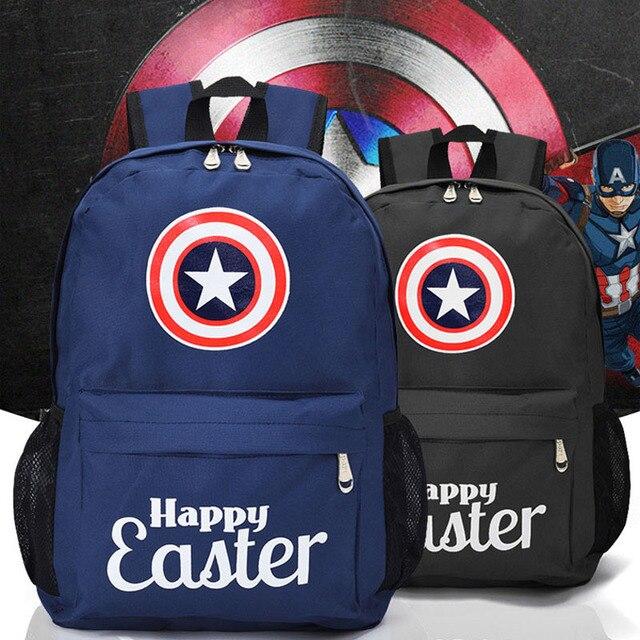 Capitão América Homem-Aranha Homem De Ferro Homens Mortos Da Menina e do Menino Sacos de Ombro Sacos de Viagem para Homens e Mulheres mochila de estudante