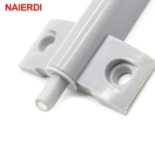 NAIERDI 5Set/Lot Kitchen Cabinet Catches Door Stop Drawer Soft Quiet Closer Damper Buffers With Screws For Furniture Hardware