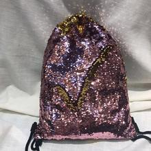 Mermaid Girls Shoulder Bags Sequins Gym Sport Dragsko Axelväskor Ryggsäckar Väskor Skor Väskor