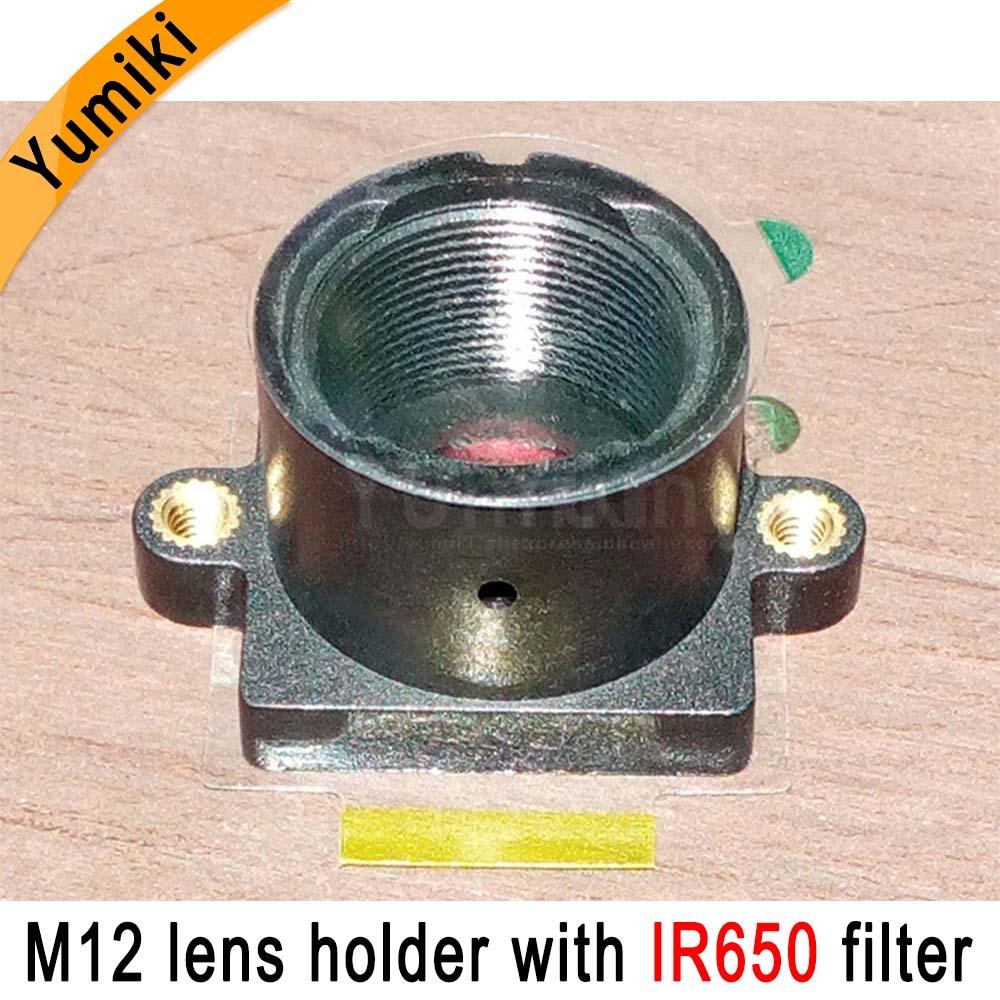 Yumiki M12 Lens Mount MTV Security CCTV Camera M12 Lens Holder Bracket With IR650nm Filter