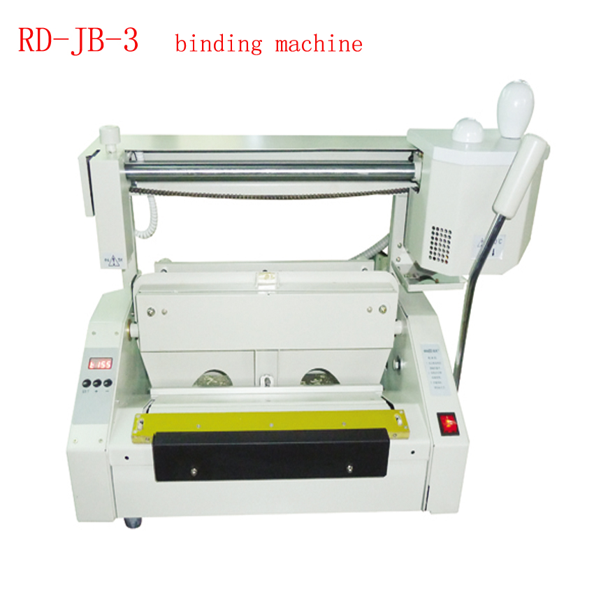 1 PCS 110V/220V/50Hz RD-JB-3 Desktop Glue Book Binding Machine Electricity A3 Binder manual hot glue book binding binder machine