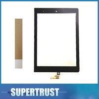 8.0 polegada Para Lenovo Yoga Tablet 8 B6000 Sensor Do Painel de Toque Digitador Da Tela de Lente de Vidro Da Frente cor Preta Com fita