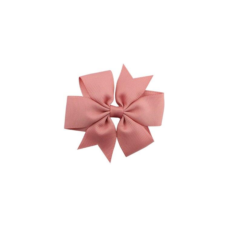 40 цветов сплошная корсажная лента банты заколки шпилька девушка бант для волос, бутик заколки для волос аксессуары для волос - Color: a35 Rubber Pink