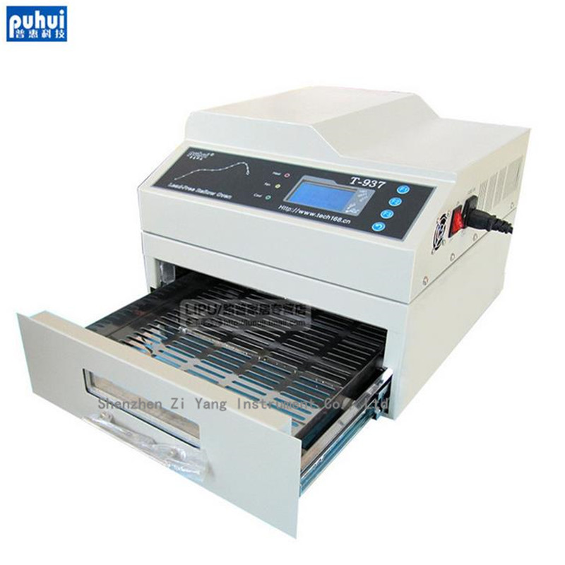 Orignal PUHUI T-937 2300W Lead-free Reflow Oven 220V Infrared IC Heater  BGA SMD SMT  T937 Reflow Solder OvenOrignal PUHUI T-937 2300W Lead-free Reflow Oven 220V Infrared IC Heater  BGA SMD SMT  T937 Reflow Solder Oven