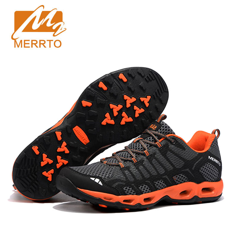 MERRTO Original Hiking Shoes For Men Breathable Hiking Jogging Sneakers For Men Brand Cushion Hiking Trekking Camping Shoes