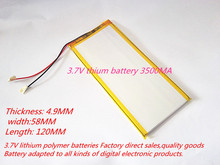 wholesale PL4958120 battery 3.7V thium battery 3500MA battery for tablet PC battery for Hyundai A7HD