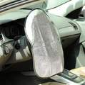 Espesa el doble Papel De Aluminio Anti Hot Automotive Parasol Cubierta Del Volante Del Coche