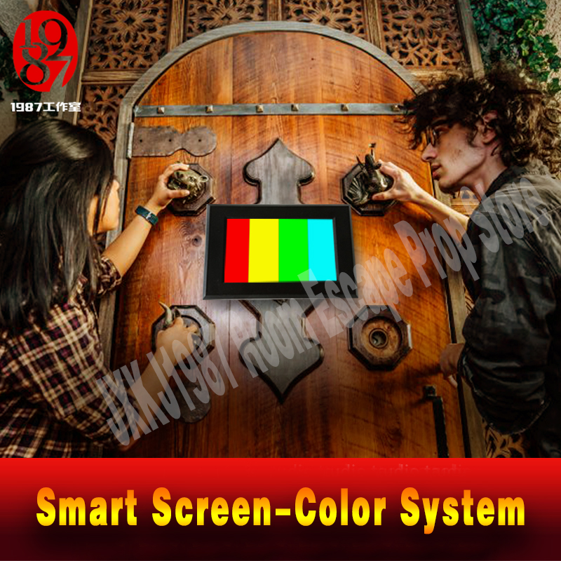 Реалити «Побег из комнаты» Опора цветной пазл приложение умный экран , настройте Цвет pad направо цвет, чтобы разблокировать побег камеры уйти - 3