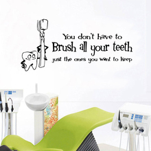 Luxuriant Brush Your Teeth Environmental Protection Vinyl Stickers for Living Room Company School Office Decoration Mural Poster